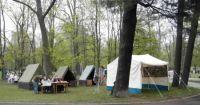 Pohled na skautský tábor na slavnostech v rove 2013